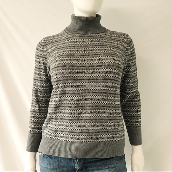 e2114d0e04 L.L. Bean Sweaters - L.L. Bean Cotton Cashmere Turtleneck Sweater